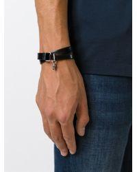 DIESEL   Black Double Wrap Bracelet for Men   Lyst