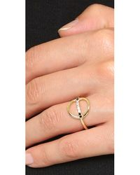 Elizabeth and James - Metallic Aloba Ring - Lyst