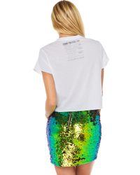AKIRA Multicolor Bright Light Sequin Skirt
