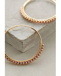 Anthropologie | Metallic Magdalena Hoops | Lyst