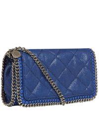 Stella McCartney - Blue Falabella Quilted Clutch Bag - Lyst