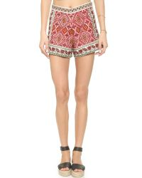 Glamorous - Multicolor Embroidered Shorts - Lyst