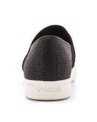 Vince Pierce Slip On Sneakers - Black