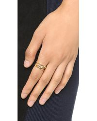 Jennifer Zeuner | Metallic Bristol Ring - Gold/clear | Lyst
