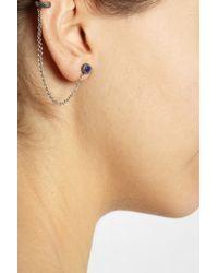Pamela Love - Metallic Silver Lapis Lazuli Ear Cuff - Lyst