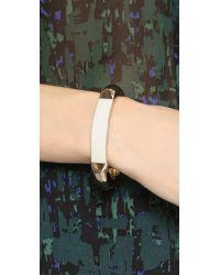 Jason Wu Metallic Charlotte Enameled Bracelet - Chalk