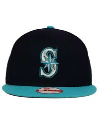 KTZ - Blue Seattle Mariners 2 Tone Link Cooperstown 9fifty Snapback Cap for Men - Lyst