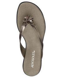 Aerosoles - Metallic Branchlet Flip Flop Sandals - Lyst
