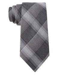 William Rast Black Silk-Blend Plaid Tie for men