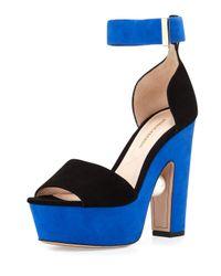 Nicholas Kirkwood - Black Maya Suede Platform Sandals - Lyst