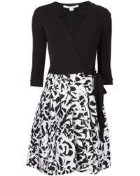 Diane von Furstenberg - Black 'jewel' Wrap Dress - Lyst