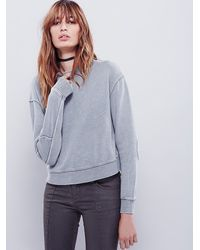 Free People | Green Womens Team Spirit Pullover | Lyst