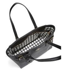 Kate Spade | Black Finn Leather Satchel Bag | Lyst