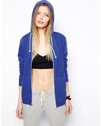 ASOS - Blue The Off Shoulder Sweatshirt In Cotton - Lyst