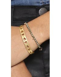 Ginette NY Pink Fool's Gold Faceted Bracelet