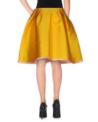 Normaluisa - Yellow Knee Length Skirt - Lyst