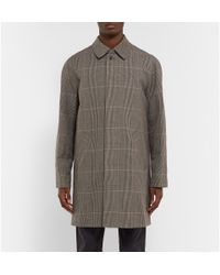 A.P.C. - Gray Prince Of Wales Checked Linen And Cotton-Blend Raincoat for Men - Lyst