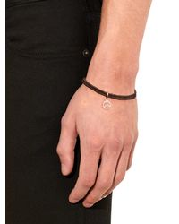 Paul Smith | Brown Peace Charm Leather Bracelet for Men | Lyst