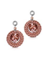 Antica Murrina - Avant Gard Pink Murano Glass Long Drop Earrings - Lyst