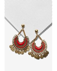 Nasty Gal - Multicolor Shali Coin Earrings - Lyst