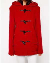 Gloverall - Red Short Duffle Coat - Lyst