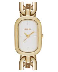 DKNY - Metallic 'ellington' Chain Link Bracelet Watch - Lyst