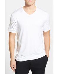 Michael Kors | White Stretch Modal V-neck T-shirt for Men | Lyst