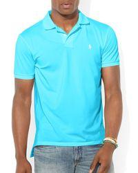 Ralph Lauren | Blue Polo Performance Mesh Polo Shirt - Slim Fit for Men | Lyst
