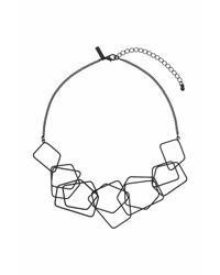 TOPSHOP - Black Link Collar Necklace - Lyst