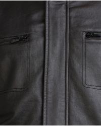 Zara   Black Biker Jacket for Men   Lyst