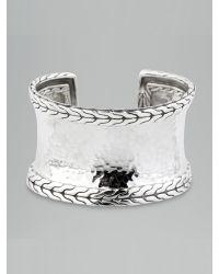 John Hardy | Metallic Silver Palu Narrow Cuff | Lyst