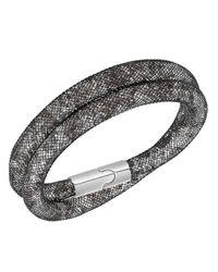 Swarovski | Black Stardust Double Wrap Bracelet | Lyst