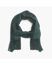 J.Crew | Green Silk Dotted Scarf for Men | Lyst