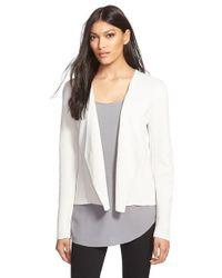 Eileen Fisher - White Silk & Organic Cotton Jacket - Lyst