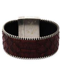 Aech Cheli - Red 'zip' Bracelet - Lyst
