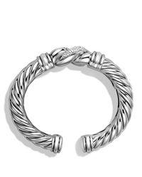 David Yurman Metallic Metro Bracelet With Diamonds