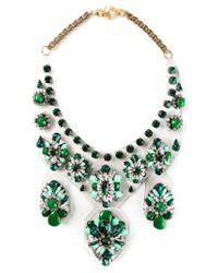 Shourouk | Green Extra Large 'primavera' Necklace | Lyst