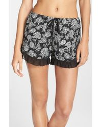 Band Of Gypsies | Black Floral Print Shorts | Lyst
