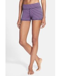 Zella | Blue 'haute' Slim Fit Shorts | Lyst