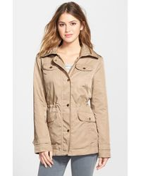 Ellen Tracy | Brown Anorak With Hidden Hood | Lyst