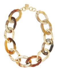 Ashley Pittman | Metallic Kiungo Mixed Horn & Bronze Necklace | Lyst