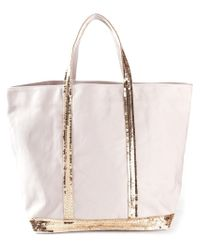 Vanessa Bruno - Pink Sequin-Embellished Cotton Tote - Lyst