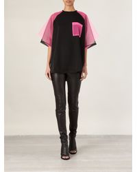 Christopher Kane | Black Contrast Tulle Top | Lyst