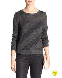 Banana Republic   Gray Factory Diagonal-stripe Sweater   Lyst