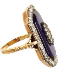Olivia Collings - Blue Glass Tablet Paste Ring - Lyst
