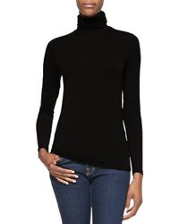 Neiman Marcus - Black Soft Touch Turtleneck - Lyst