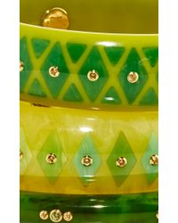 Mark Davis | Multicolor Set Of 3 Yellow Sapphire Bakelite Bangles | Lyst