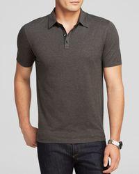 Bloomingdale's Gray Short Sleeve Regular Fit Polo - Bloomingdale'S Exclusive for men