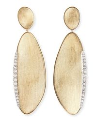 Marco Bicego - Metallic Lunaria 18k Gold Earrings with Rose-cut Diamonds - Lyst