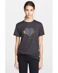 Rodarte | Black 'rohearte' Heart Graphic Tee | Lyst